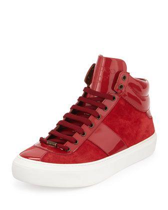 Belgravi Mens Leather High-Top Sneaker