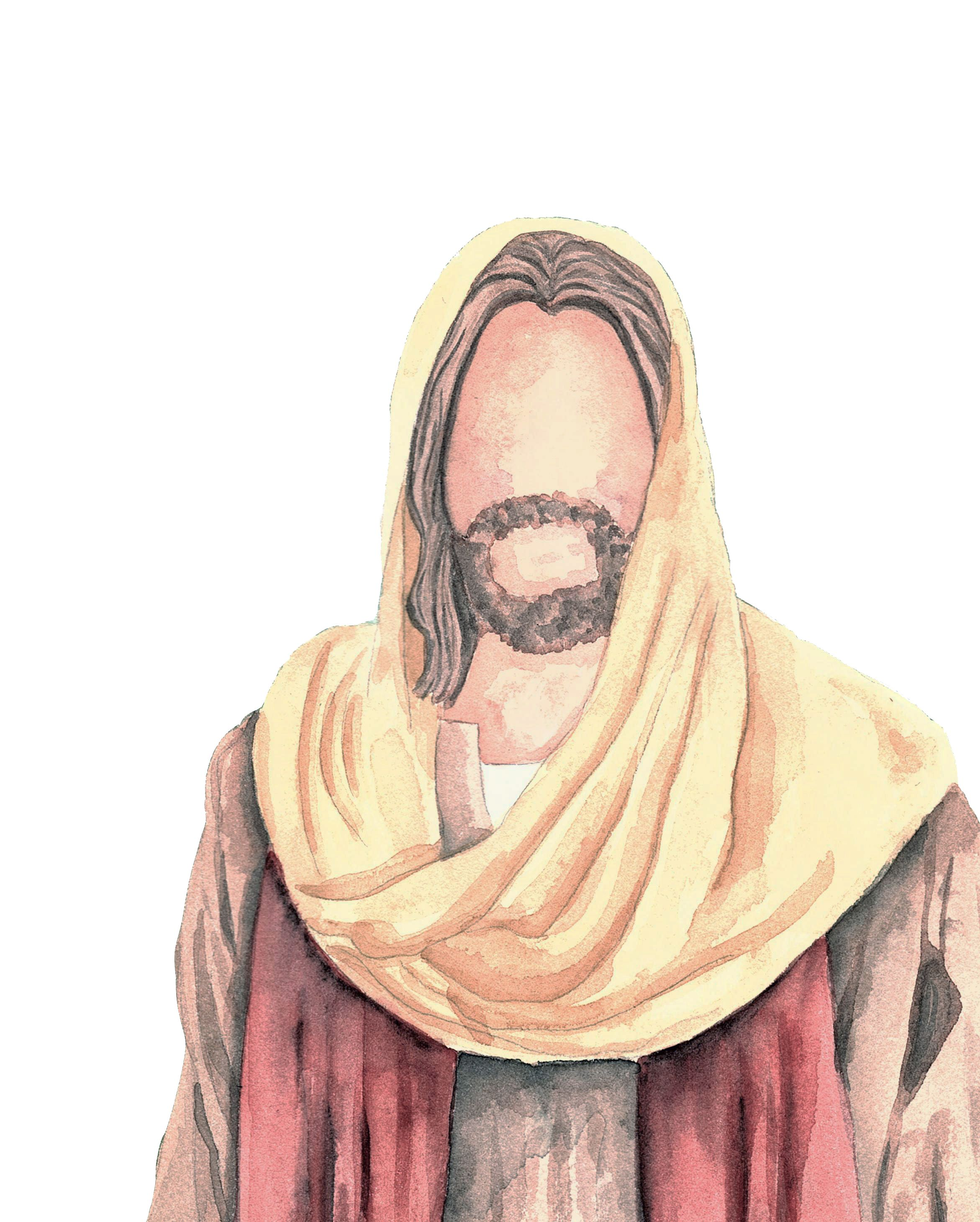 Watercolor portrait of Jesus Christ instagram @_sapgreen  Jesus