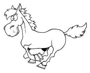 Cartoon Galloping Horse Coloring Page 0521 1011 0323 3332 Smu Jpg 300 243 Horse Clip Art Horse Coloring Pages Horse Cartoon