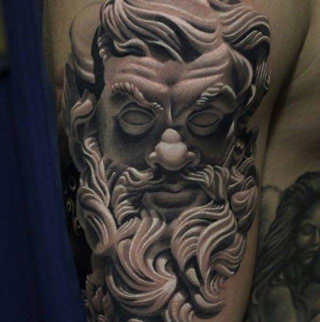 Poseidon Staff Tattoo: Pin On Body, Face Paintings, & Tattoos