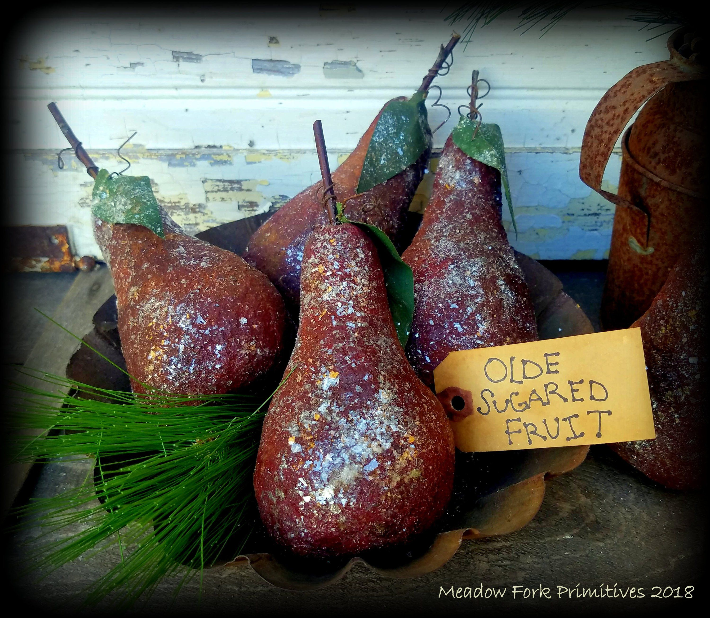 Christmas Pears.Made To Order Primitive Folk Art Handcrafted Christmas Pears