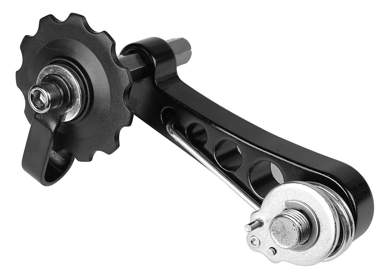 CyclingDeal MTB Road Bike Bicycle Aluminum Chain Tensioner Black aluminum alloy