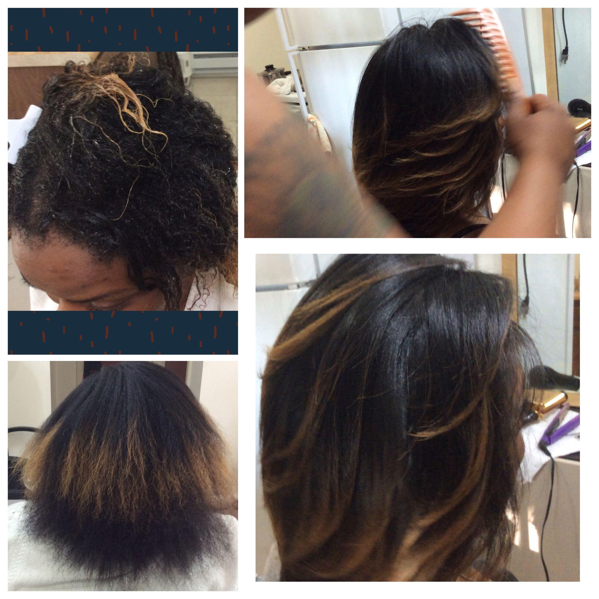 Beautiful natural hair silk press