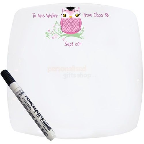 Personalised Miss Owl Message Plate  from Personalised Gifts Shop - ONLY £24.95