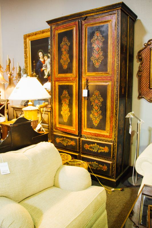 This vintage wardrobe looks absolutely amazing. It could go in a bedroom or a living room and add the perfect amount of elegance to the room. Find it at Avery Lane in Scottsdale.