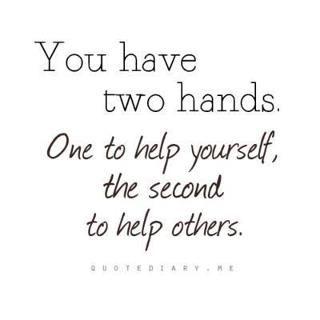 Help Quotes Helping Hands  Pensieri E Parole  Pinterest  Random