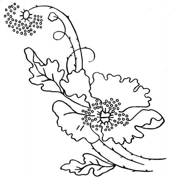 Poppy-Embroidery-Design-1911-2   bordados   Pinterest   Patrón ...