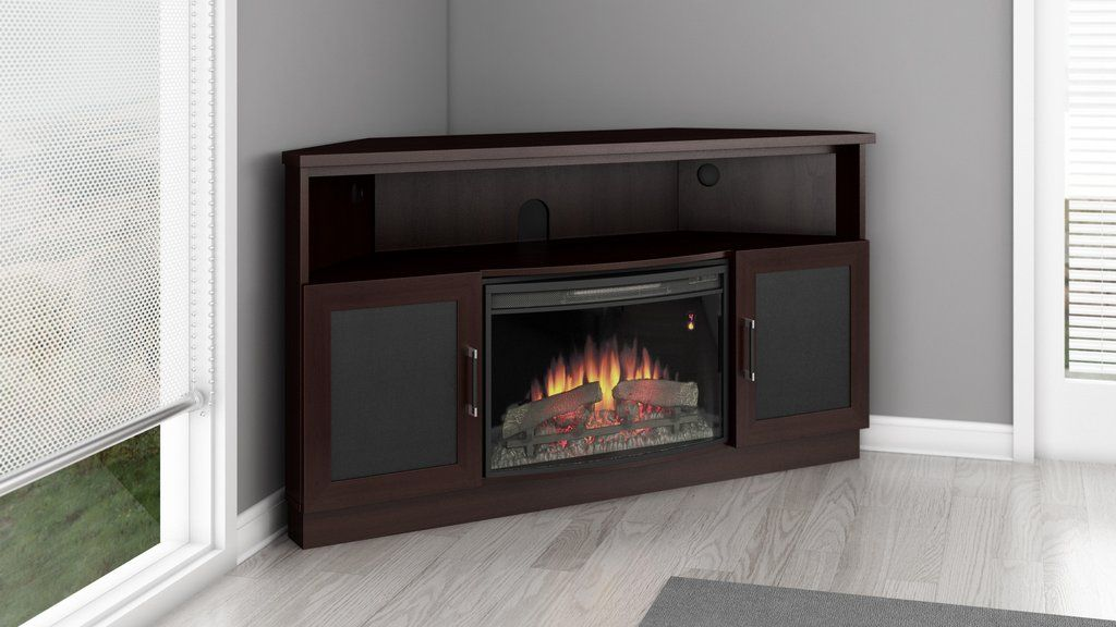60 Corner Electric Fireplace Tv Stand Dark Wenge Ft60cccfb Home
