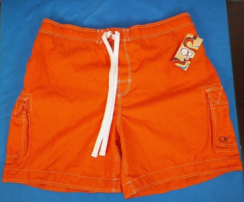 0b38753872 NWT Mens Swimwear Swim Trunks Board Shorts OP Ocean Pacific 2XL 44-46  Orange #6 #OceanPacific #BoardShorts