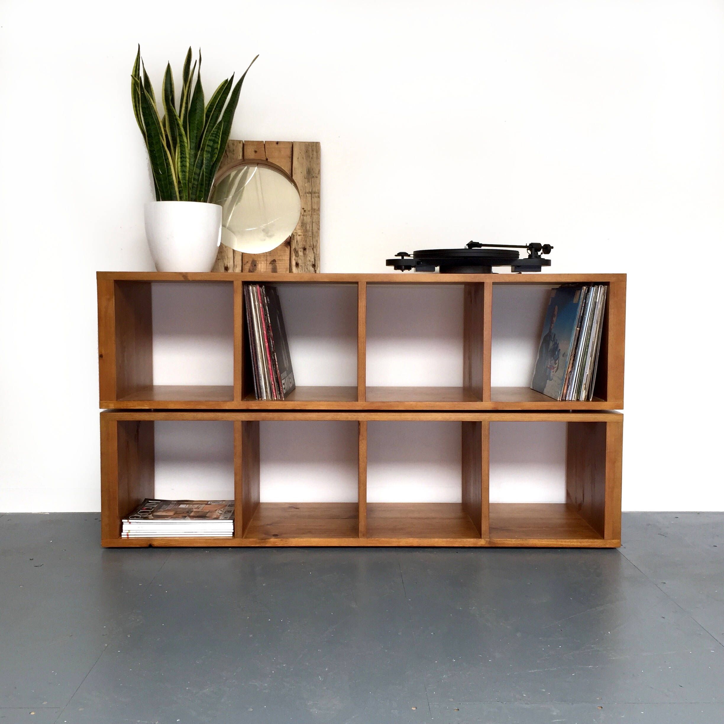 Sonor Double Height Vinyl Record Storage Shelving Solid Wood ...