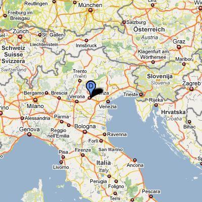 U S Army Garrison Usag Vicenza Caserma Ederle Italy Location