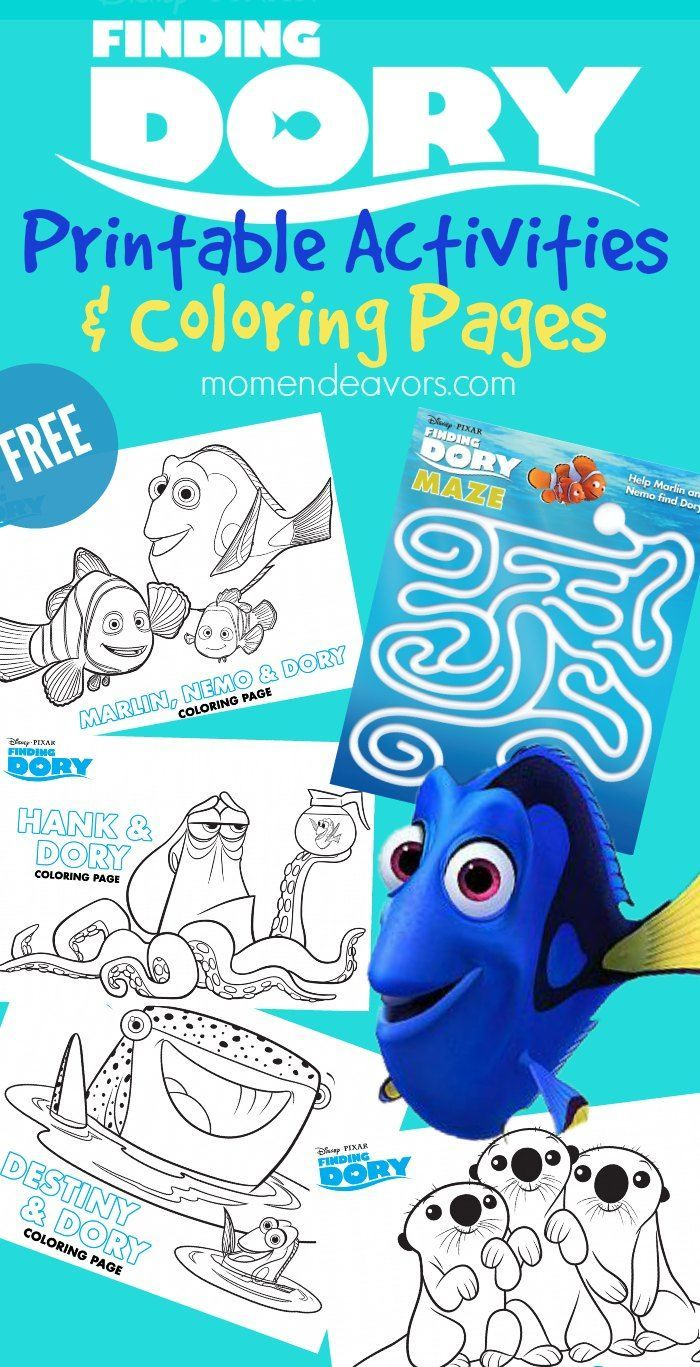 Disney\'s Finding Dory Printable Activities & Coloring Pages ...