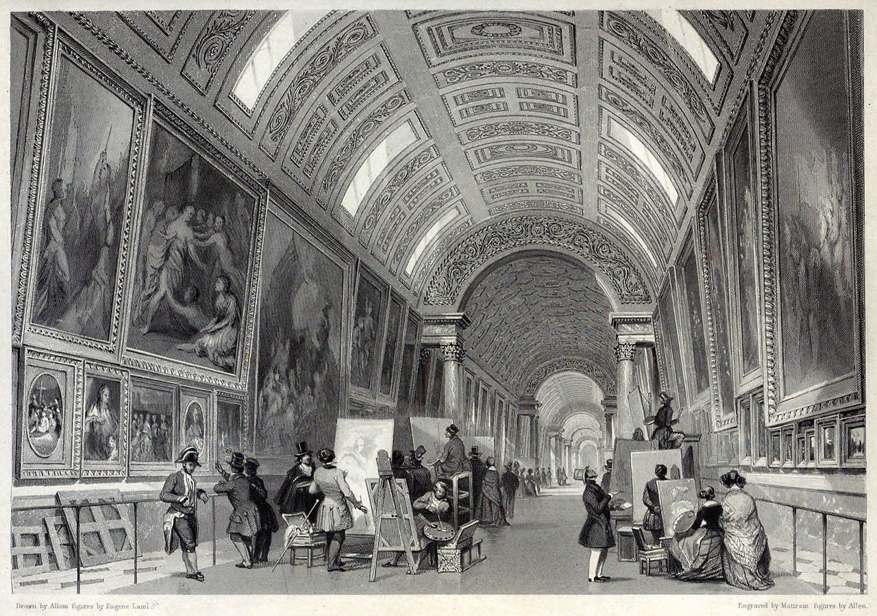 Grand Of Louvre. Illustration Eugne