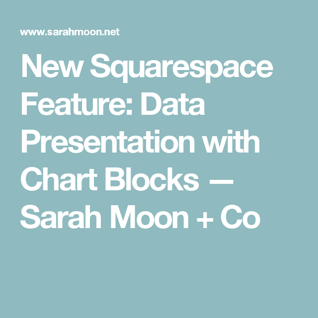 New Squarespace Feature: Data Presentation with Chart Blocks — Sarah Moon + Co