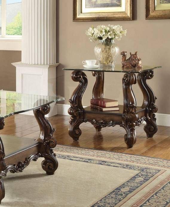 Best Light Brown Cherry Oak Living Room Set 5Pcs Acme Furniture 400 x 300