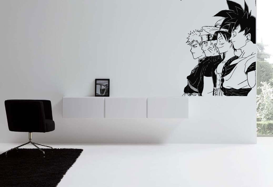 Wall Vinyl Sticker Decals Mural Room Design Pattern Anime Guys Movie Hero  Bo565 By RoomDecalsAndDesigns On