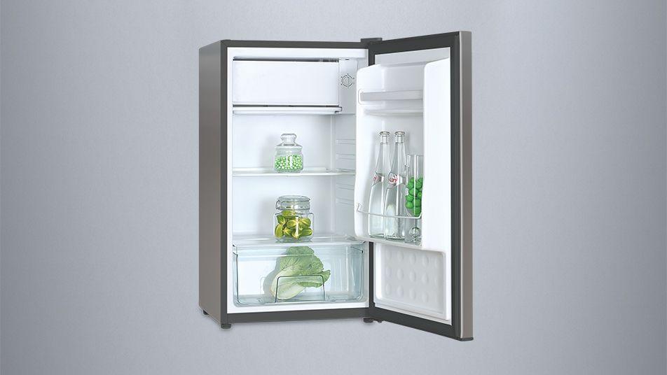 Mini Kühlschrank Mit Schrank : Inventor a 82l kompakter luxus mini kühlschrank inox silber