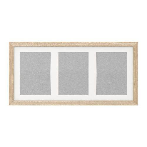 ikea ribba cadre effet ch ne blanchi pour 3 photos de 13x18 cm ou 1 photo de 50x23 cm. Black Bedroom Furniture Sets. Home Design Ideas