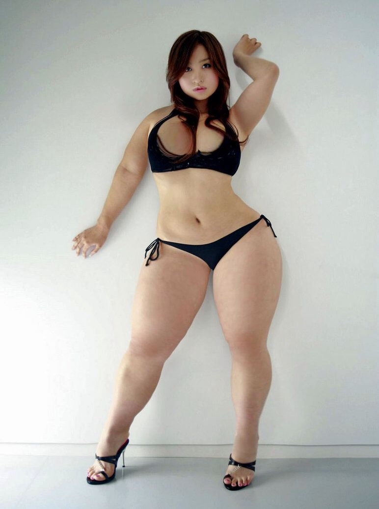 girls with thighs Asian thick