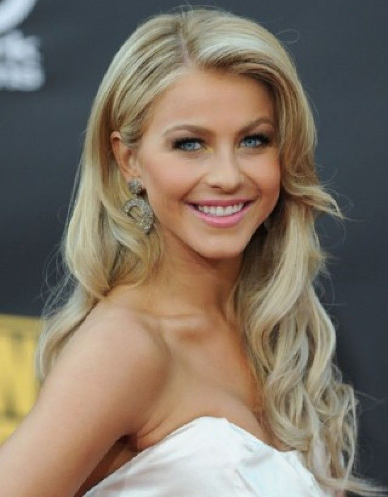 Wedding hairstyles ideas side ponytail long hair all down curly