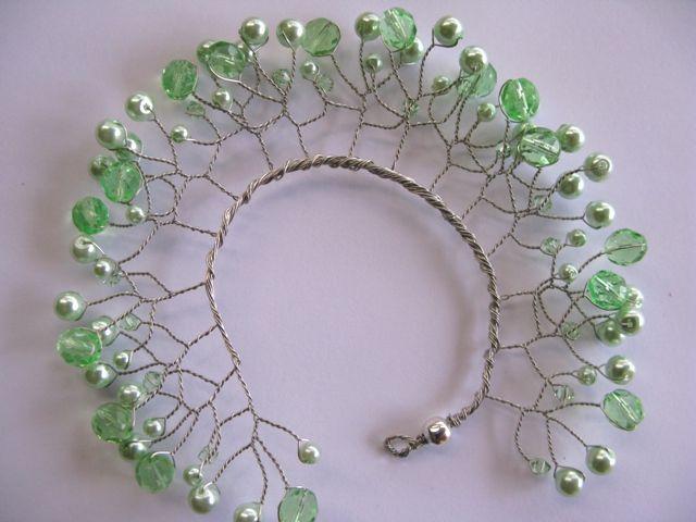 Bun Buddy Pearl Garden Mint Buy Dance tiaras, Swarovski crystal beaded headpieces for ballet dancers