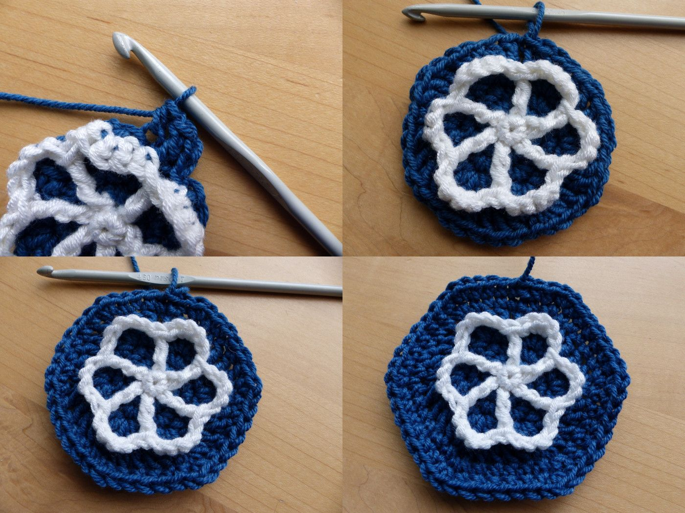 Moroccan Hexagon Motif Rounds 6 to 8 - Free Crochet Pattern by Make ...