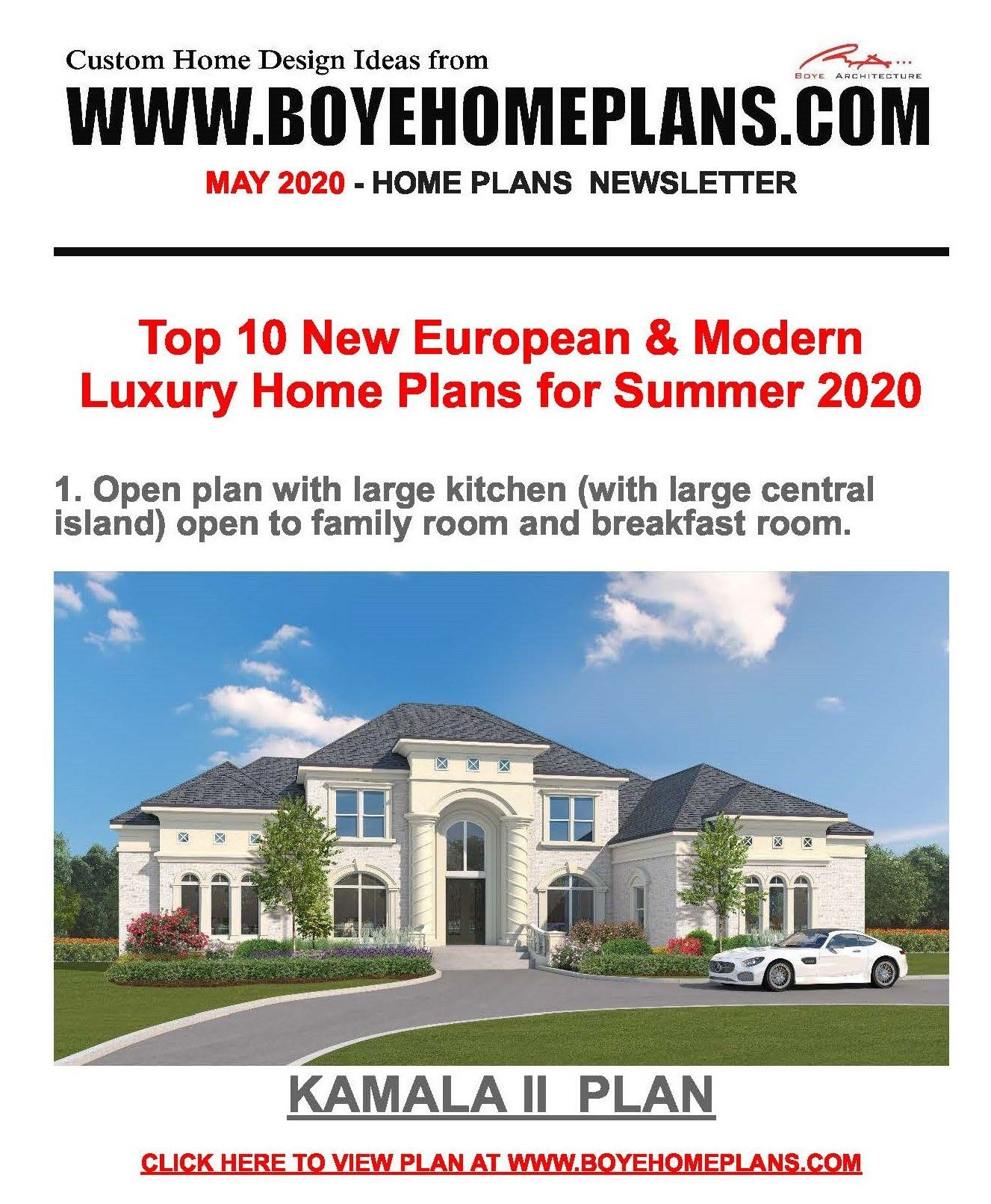 Top 10 New Plans For Summer 2020 From Boyehomeplans Com Luxury House Plans Custom Home Designs Luxury Homes
