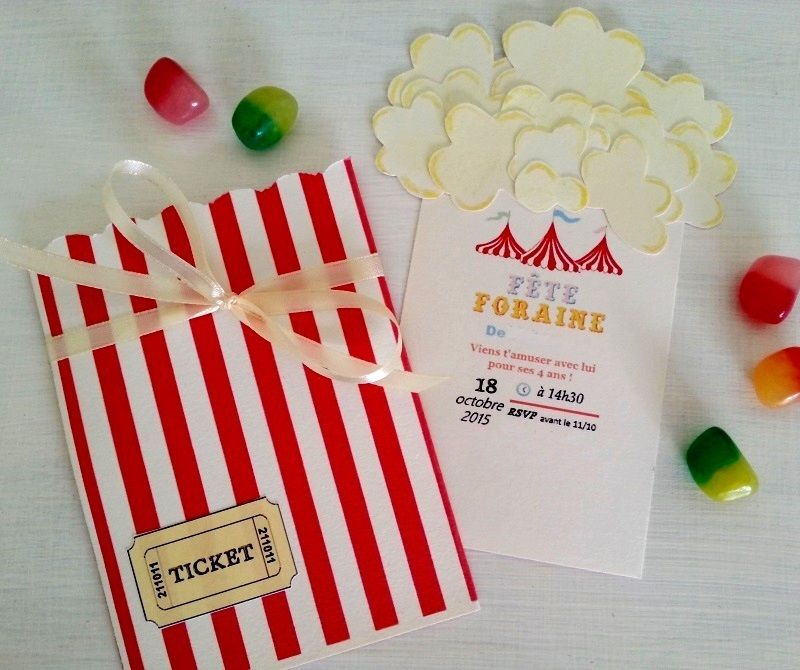 Diy Invitations Danniversaire Fête Foraine Party Ideas