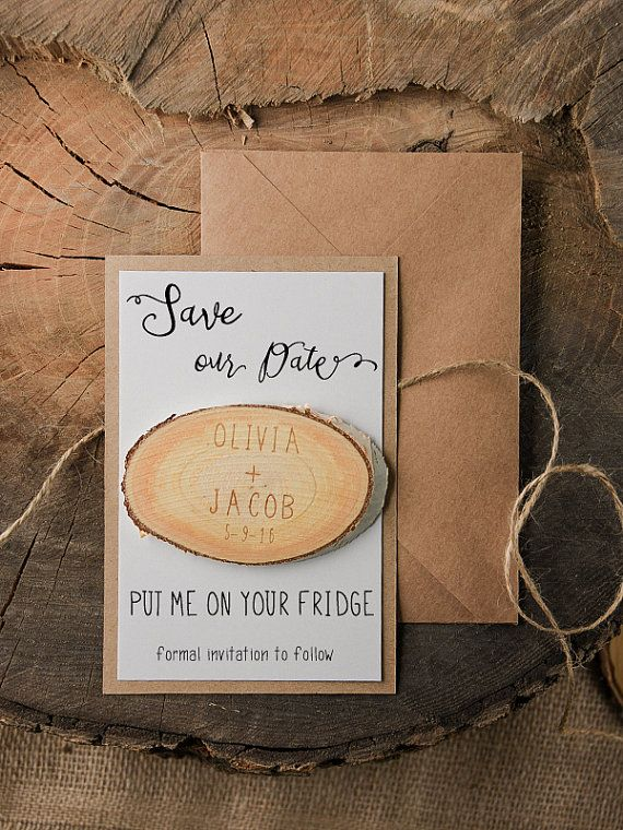 Save The Date Magnets 20 Rustic Wood Save Date by forlovepolkadots
