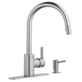 GROHE Feel Supersteel Infinity Pull Down Kitchen Faucet. Canu0027t Wait To See  This Installed!!