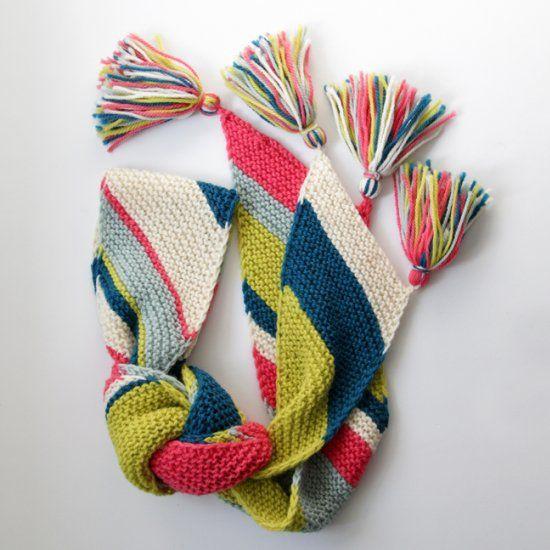 Big Old Bias Knit Scarf Pattern Craft Gawker Knitting And