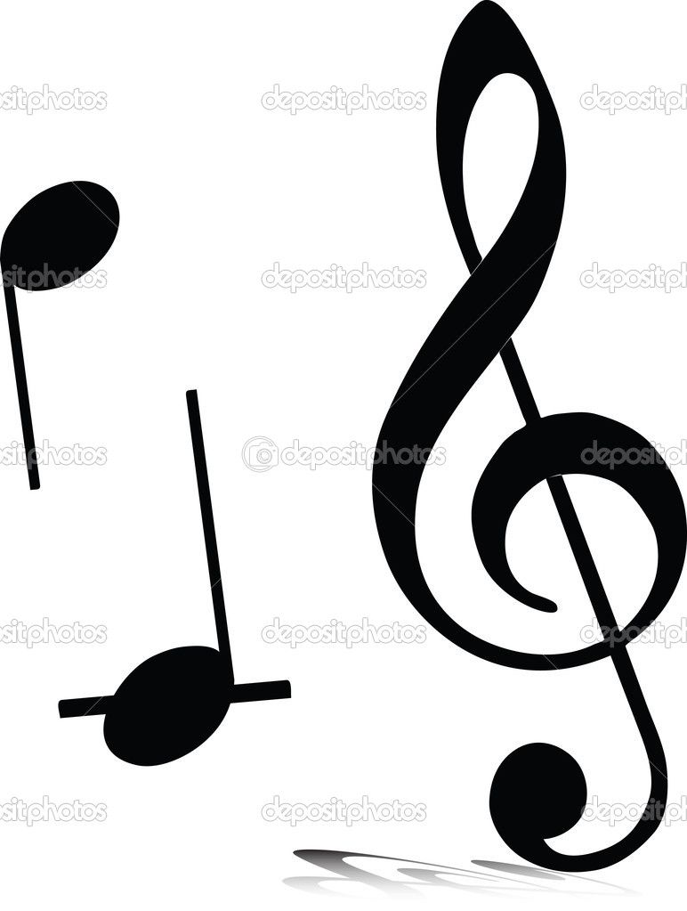 silhouette music music note vector silhouettes stock photo rh pinterest com Music Note Icon Music Notes Graphics