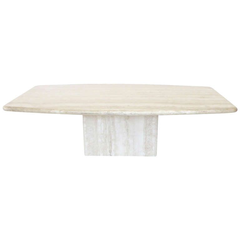 Italian Travertine Marble Coffee Table In Two Parts By Ello