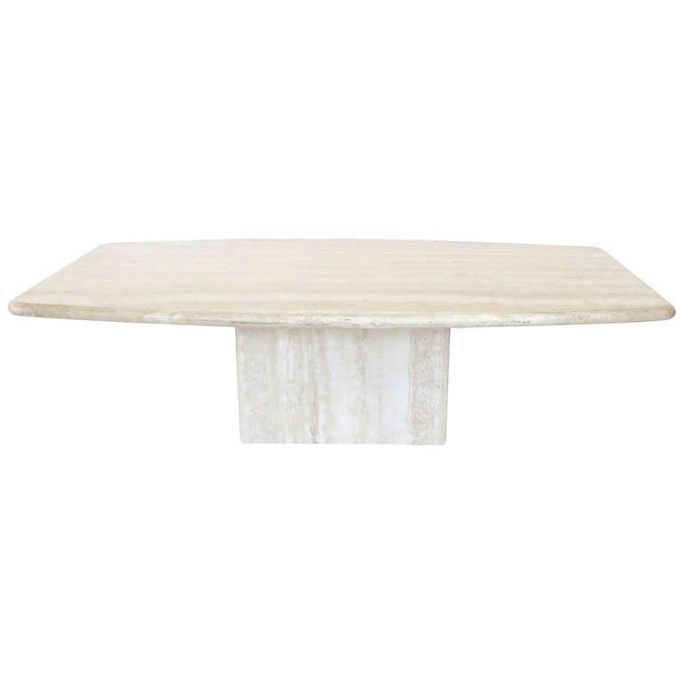 Italian Travertine Marble Coffee Table In Two Parts By Ello - Travertine coffee table