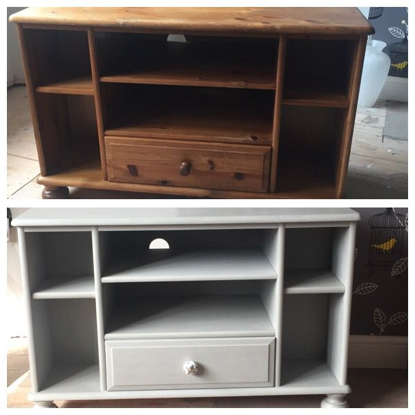 TV cabinet - Before and after Annie Sloan ❤️