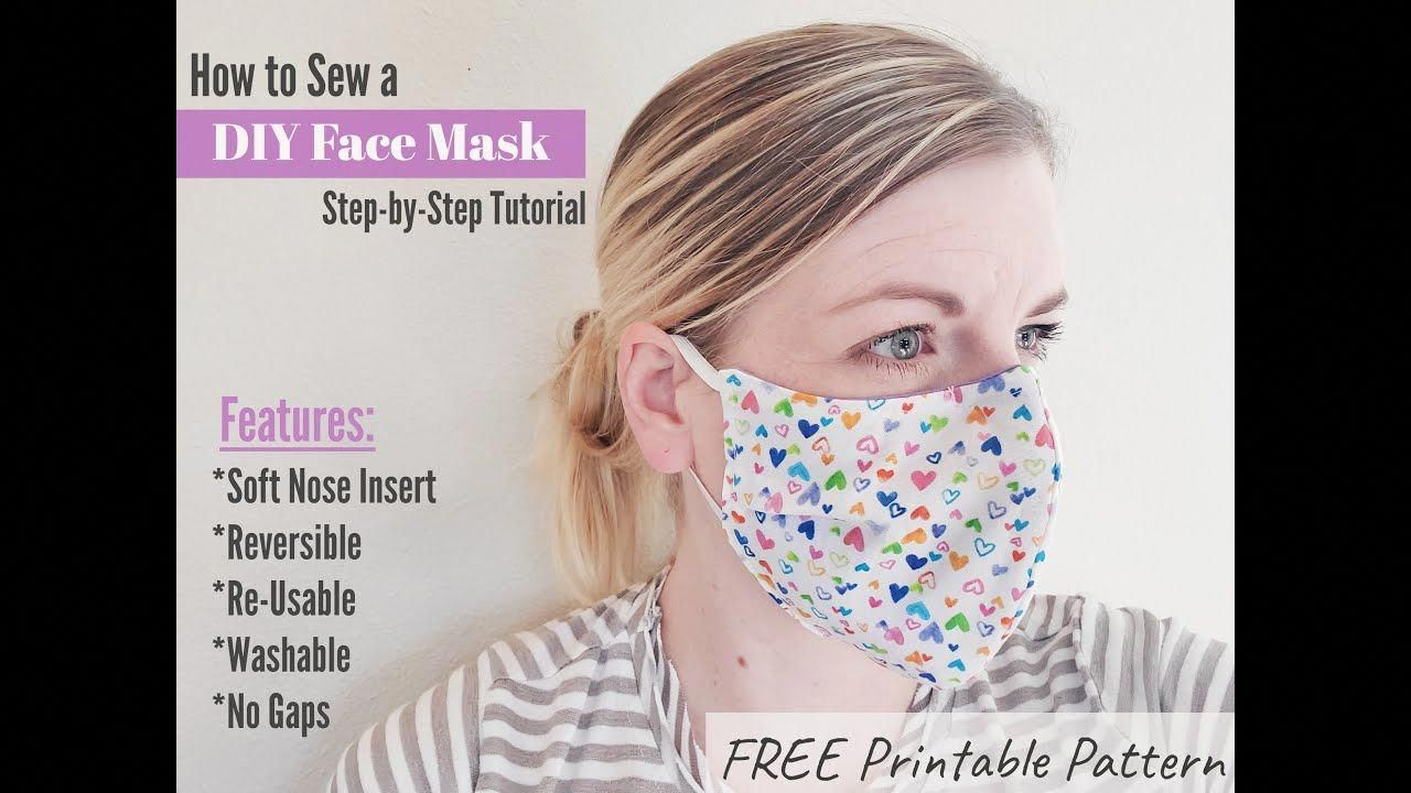 no sew face mask jennifer maker in 2020 Face mask