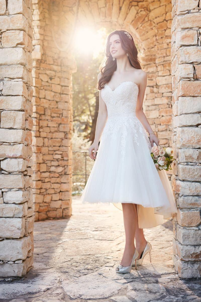 D2189 Wedding Dress From Essense Of Australia Hitched Co Uk Knee Length Wedding Dress Essense Of Australia Wedding Dresses Short Wedding Dress [ 1200 x 800 Pixel ]