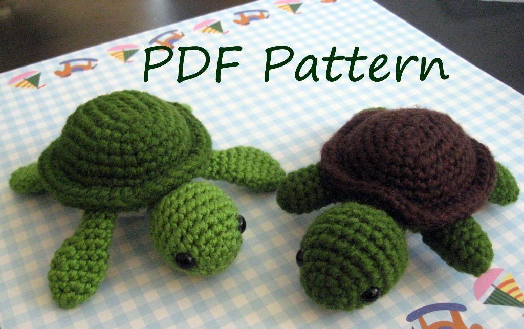 Amigurumi Tortoise Tutorial : Turtle amigurumi crochet pattern amigurumi turtle and crochet