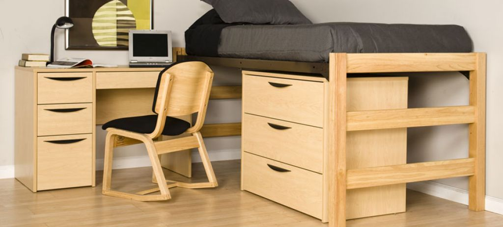 Ordinaire Modern Dorm Room Furniture Including Cabinets And Desk