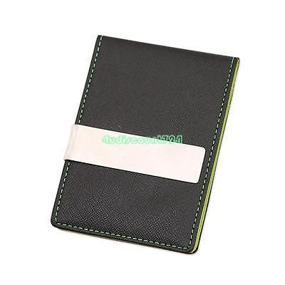Creative mens wallet pu leather bifold business card holder money creative mens wallet pu leather bifold business card holder money clip green 4 colourmoves