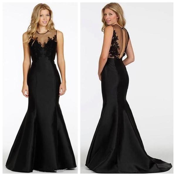 Mermaid Black Elegant Discount Formal Long Evening Party Prom Dress ...