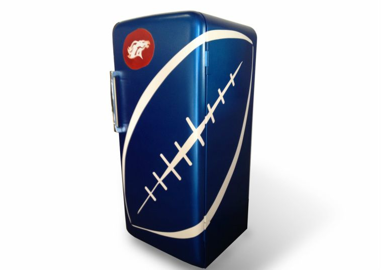 Ordinaire Vintage Style Denver Broncos Refrigerator
