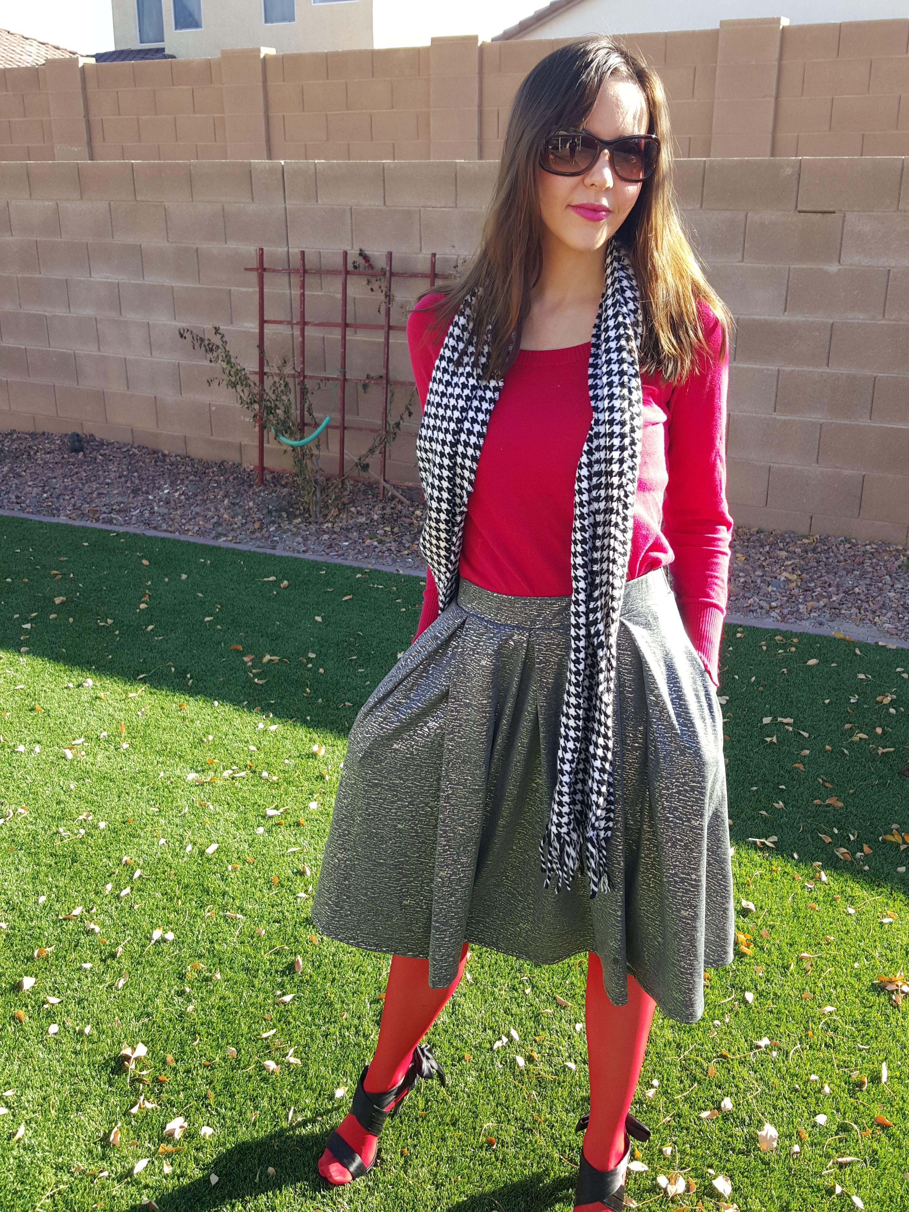 Flannel shirt and leggings  Holiday LuLaRoe Madison skirt tunic sweater Victoria Secret red
