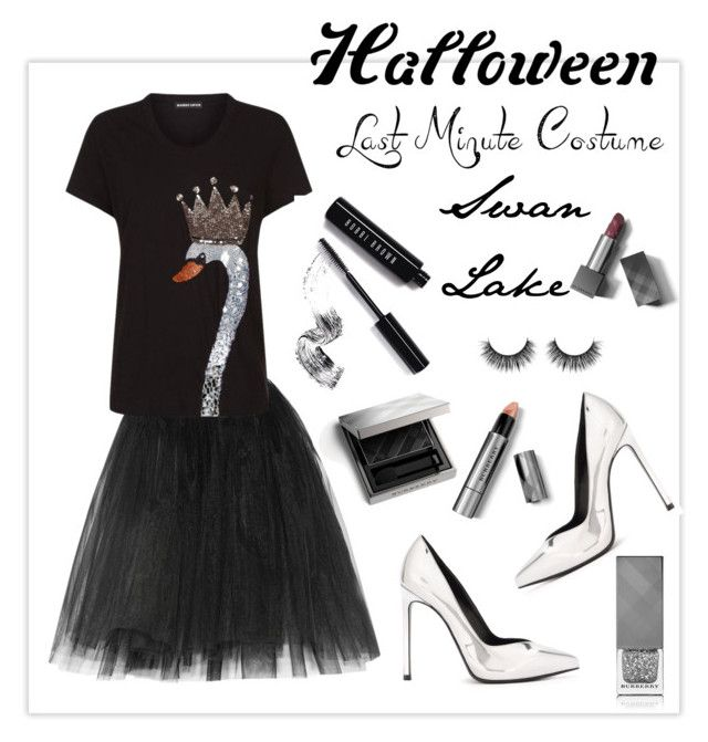 """Enter contest Save Draft Open New       SwanLake  WomenMenHomeMy ItemsCollectionsContestballerina×ballerina×bodysuit×ballerina×ballerina×Shoes×ballerina×ballet beau...×ballet beau...×ballet×Ballet Beau...×swan×Text×Burberry× Last-Minute Halloween Costume"" by alinepinkskirt ❤ liked on Polyvore featuring Ballet Beautiful, Markus Lupfer, Yves Saint Laurent, Bobbi Brown Cosmetics and Burberry"