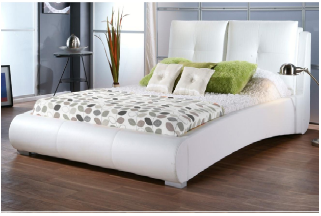 . white  leather beds caring tips   Leather beds   Leather bed frame