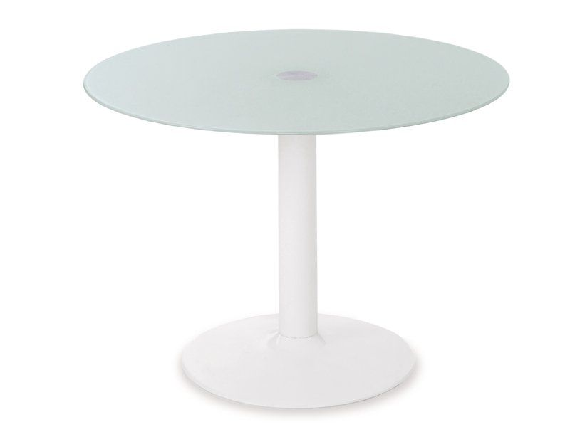 Mesa redonda mesa de cristal mesa redonda cristal mesa for Mesa salon blanca