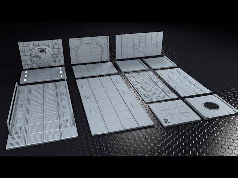 Free scifi elements set 3d models obj 3ds fbx included