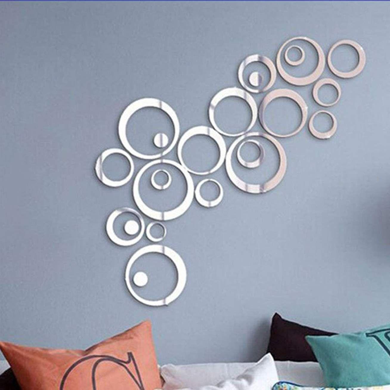Mur Autocollant Miroir Salon Acrylique Diy Miroir Autocollant Montre 3D Autocollants Mode D/écoration De La Maison