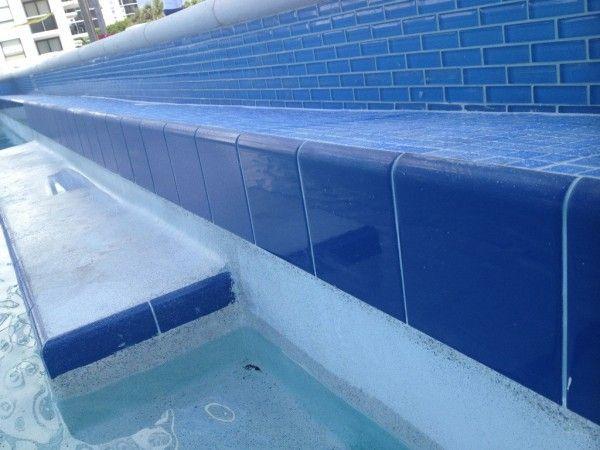 Image Of Impressive Ceramic Tiles For Pools With Cobalt Blue