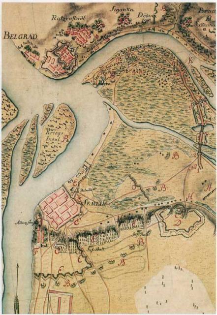 Karta 1788 Belgrade Map Belgrade Beograd